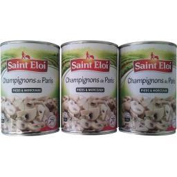 Saint Eloi Champignons de Paris le lot de 3 boites de 230 g net égoutté