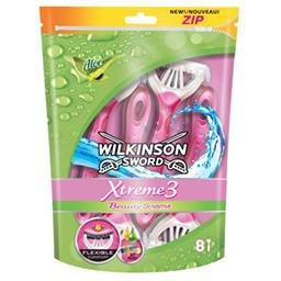 Wilkinson Xtreme 3 - Rasoirs jetables Beauty Sensitive aloe