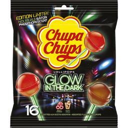 Sucettes Lollipops Glow in the Dark cerise & cola