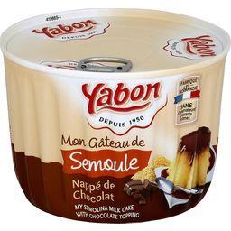 Mon Gâteau de Semoule nappé de chocolat