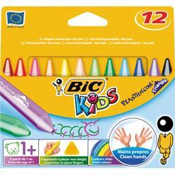 Kids - Craies de coloriage triangulaire Plastidecor, dès 1 a