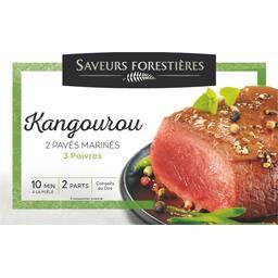 Pavés de kangourou marinés 3 poivres