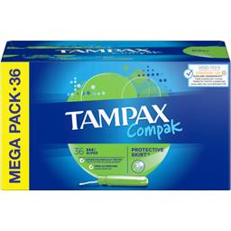 Tampax Compak - super - tampons applicateur