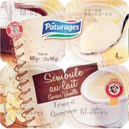 Semoule au lait arôme naturel de vanille