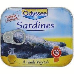 Sardines à l'huile vegetale