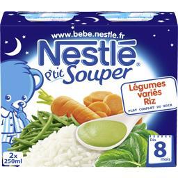 P'tit Souper - Soupe du soir légumes variés riz, 8+ ...
