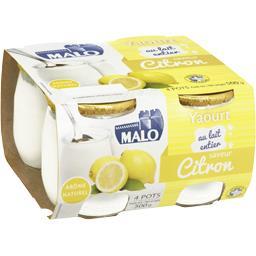 Yaourt au lait entier saveur citron