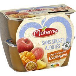 Sans Sucres Ajoutés - Compote multi-fruits exotiques