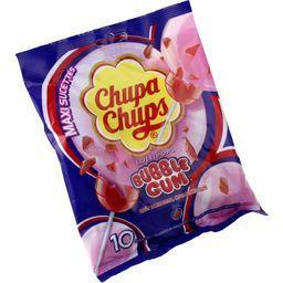 Maxi sucettes Bubble Gum goût cerise extra, mega Bub...