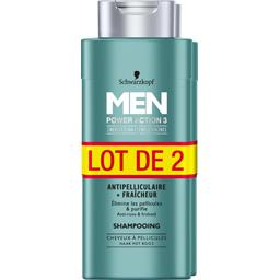 Schwarzkopf Men - Shampooing antipellicullaire Power Action 3 fr... le lot de 2 flacons de 250 ml