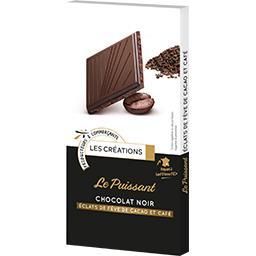 Le Puissant chocolat noir éclats de café