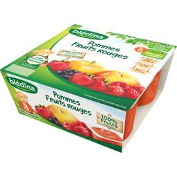 Purée de fruits pomme fruits rouges, dès 8 mois