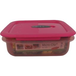 Boîte micro clip carrée rose