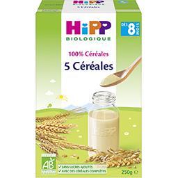 100% Céréales - 5 céréales BIO, dès 8 mois
