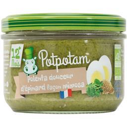 Potpotam Polenta douceur d'épinards façon mimosa BIO Le pot de 200 gr