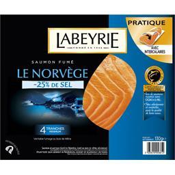 Labeyrie Saumon fumé Le Norvège -25% de sel