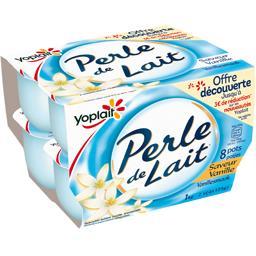 Yoplait Perle de Lait - Spécialité laitière saveur vanille les 8 pots de 125 g - offre découverte