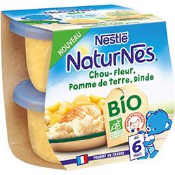 Nestlé Naturnes Chou-fleur pomme de terre dinde BIO, dès 6 mois les 2 pots de 190 g