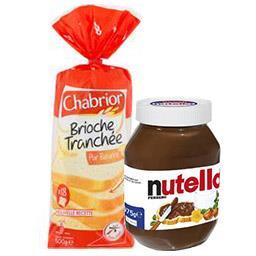 Maison du Café CHABRIOR & NUTELLA Brioche tranchée, le paquet de 500g & Pâte à tartine...
