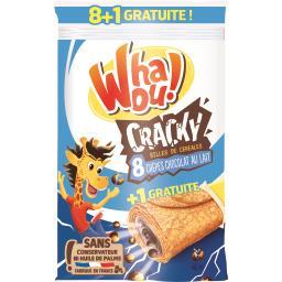 Whaou! Crêpes Cracky billes de céréales chocolat au lait les 8 crêpes de 32 g