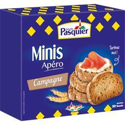 Brioche Pasquier Minis toasts Apéro campagne la boite de 130 g