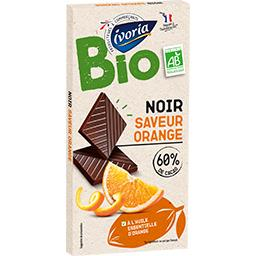 Bio Ivoria Chocolat noir orange BIO la tablette de 100 g