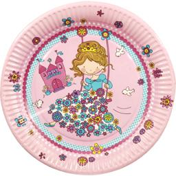Assiette en carton D23 cm, Princess Friends