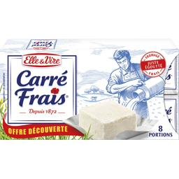 carré frais nature 15% mg 8 portions 25g