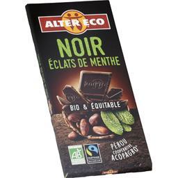 Chocolat noir éclats de menthe BIO & équitable