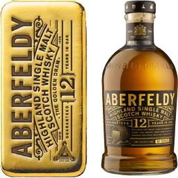 Aberfeldy Scotch Whisky, Single Highland Malt 12 ans d'âge l'étui de 70cl