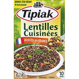 Tipiak Lentilles cuisinées récoltées en France