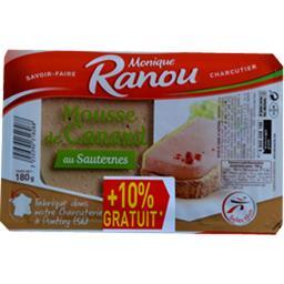Monique Ranou Mousse de canard au Sauternes la barquettes 198g