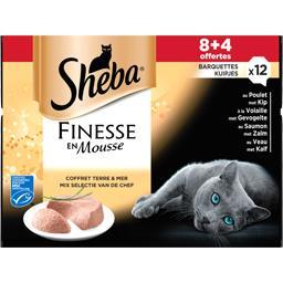 Sheba Finesse en mousse coffret pour chats