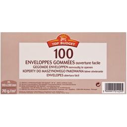 Enveloppes gommées DL 110x220 mm
