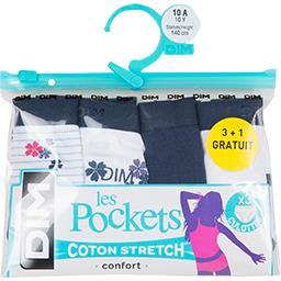 Les Pockets - Culottes taille 14 ans bleu/blanc