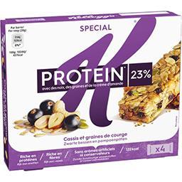 Barres de céréales Protein cassis