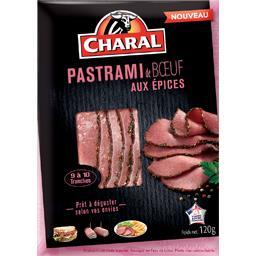 Charal Pastrami de bœuf aux épices la barquette de 120 g
