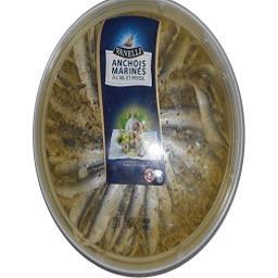 Anchois marinés à l'ail et persil