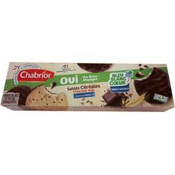 Chabrior Sablés céréales chocolat noir la boite de 168 g