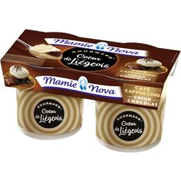 Gourmand - Cœur de Liégeois café cappuccino cœur chocolat