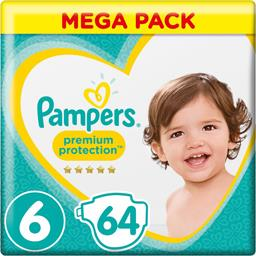 Pampers premium taille 6, 64 couches