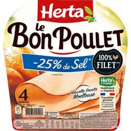 Le Bon Poulet - Filet de poulet réduit en sel