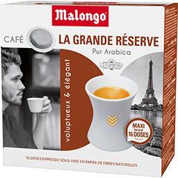 Malongo Dosettes de café moulu La Grande Réserve pur arabica