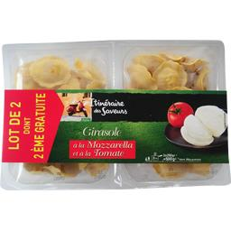 Itinéraire des Saveurs Girasole à la mozzarella et à la tomate les 2 barquettes de 250 g