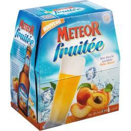 Bière blanche aromatisée pêche-abricot