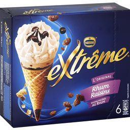 Nestlé Extrême L'Original - Cônes rhum raisins