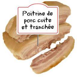 Poitrine de porc CUITE et TRANCHEE