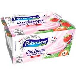 Yaourt Onctueux aux fruits mixés fraise