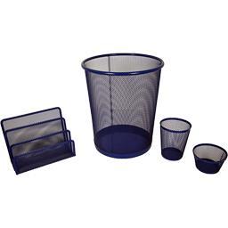 Set papeterie en métal mesh