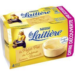 Nestlé La Laitière Le Petit Pot de Crème saveur biscuit